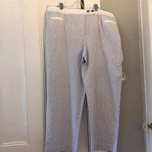Seersucker trousers.